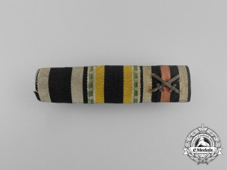 A First War Saxon War Merit Medal Ribbon Bar