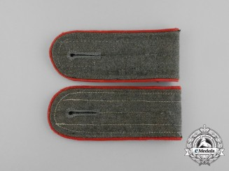 A Pair of Wehrmacht Artillery Enlisted Man's Shoulder Boards