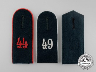 A Grouping of Three Wehrmacht Shoulder Boards