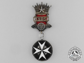 An Order of St. John Breast Badge on a Suspension