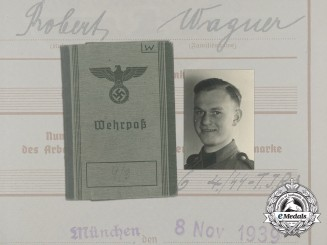 "Germany, SS. An Extensive Document Group to SS ""Totenkopf"" & SS Panzer ""Wiking"""