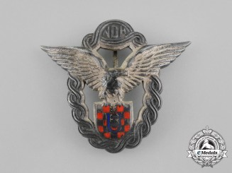 A Second War Croatian Pilot Badge; Type II