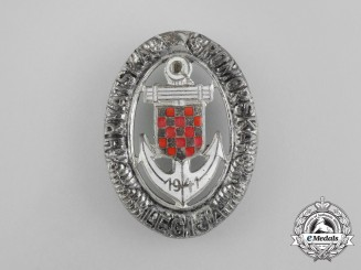 A Second War Croatian Naval Legion Badge; Type II