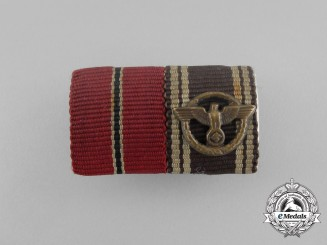 A Second War German Eastern Winter Campaign and NSDAP Long Service Medal Ribbon Bar