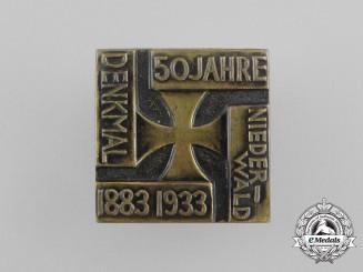 A 1933 50-Year Anniversary Niederwald Memorial Badge