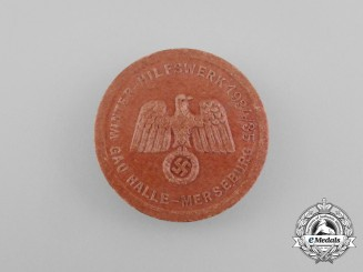 A 1934/35 Merseburg Region WHW (Winter Relief of the German People) Donation Badge