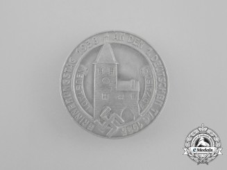 """A 1938 Neustadt """"Remembrance Day of the First German Day"""" Badge"""