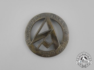 A 1934 Wismar SA Standarte 14 Pentecost Rally Badge