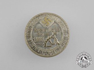 A 1933 NSBO Naila District Day of Labour Celebration Badge