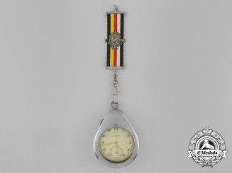 A Third Reich Period Pocket Watch by Karl Travnik in a Protective Case