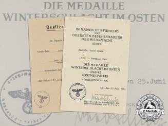 A Crimean Shield & Eastern Front Medal Documents to Kriegsmarine Radio Operator Hans Kunze