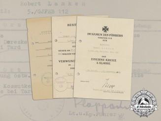 Germany, Heer. An Award Document Group to Mountain Troop Machine Gunner Robert Lamken