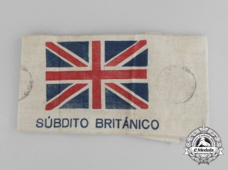 "A Rare Spanish Civil War ""British Subject"" Armband for an Embassy Employee"