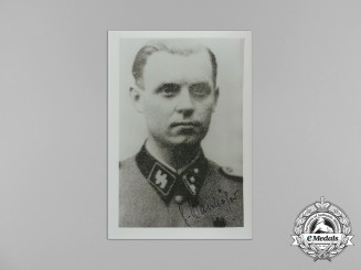 A Post-War Signed Print of Knight's Cross Recipient SS-Sturmbannführer Günter Wanhöfer