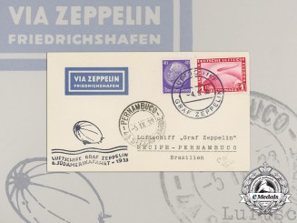 "A Souvenir Card from 6th South America Journey of Airship ""Graf Zeppelin"""