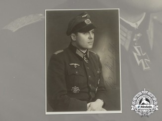 A Post-War Signed Photo of Knight's Cross Recipient Major Berndt von Mitzlaff