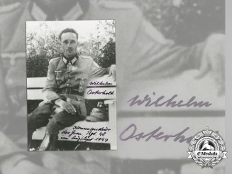 A Post-War Signed & Dedicated Photo of Wilhelm Osterhold