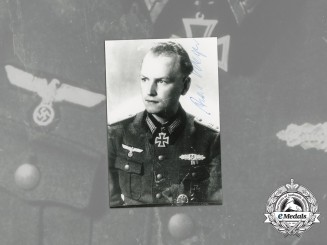 A Post-War Signed Photo of KC Winner Alois Weger