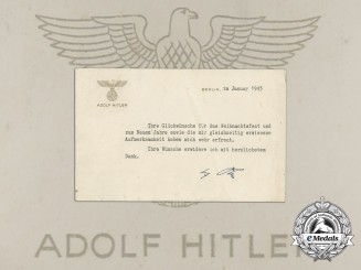 An Official Christmas 1943 Letter of Appreciation from A.H.