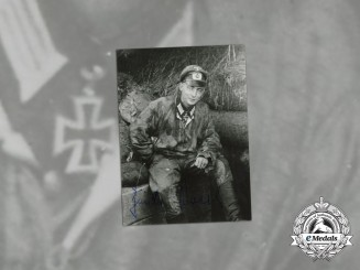 A Post War Signed Picture of KC Recipient Oberleutnant Günter Braake