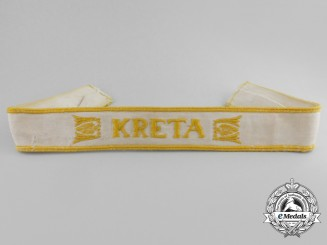 A Kreta Campaign Cuff Title; Uniform Removed