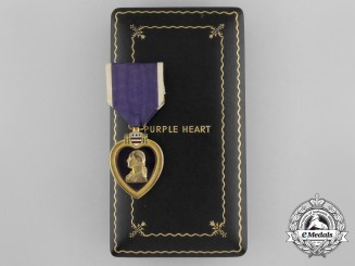 A Second War American Purple Heart in Case of Issue; Numbered