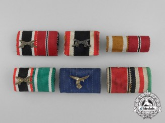 A Grouping of Six Second War German Medal Ribbon Bars