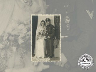 A Wartime Wedding Photo of a Decorated Panzer Obergefreiter