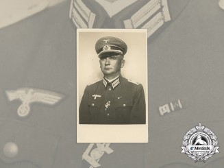 A Wartime Photo of Senior Lieutenant with Clasp to Iron Cross 1st Class