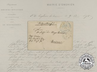 A Rare Prussian Feldpost Letter Written During 1870 Siege of Paris