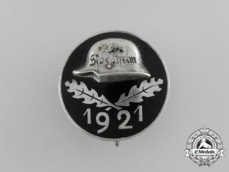 "A 1921 ""Der Stahlhelm"" Veteran's Association Membership Badge"