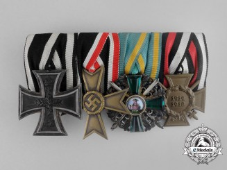 A Fine First War Iron Cross & Order of the Zähringer Lion Medal Bar