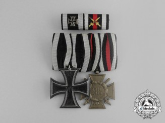 A First War German Medal Pair with Ribbon Bar