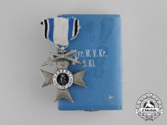 A Bavarian Military Merit Cross 2nd Class with Swords by Jacob Leser