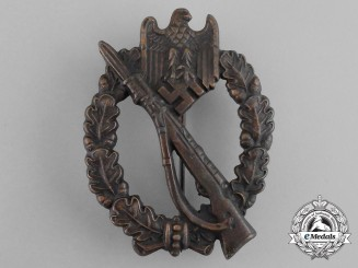 A Mint Bronze Grade Infantry Assault Badge by Rudolf Souval