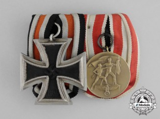A Parade Mounted EK Second Class & Memel Commemorative Medal
