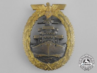 A Fine Early Quality  Kriegsmarine High Seas Fleet Badge by Schwerin of Berlin