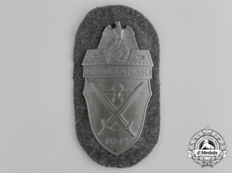 A Mint & Unissued Wehrmacht Heer Issue Demjansk Campaign Shield