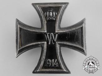 A First War Iron Cross 1st Class 1914; 900 Silver