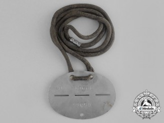 An Unknown Second War German Numbered Identification Tag