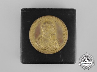 A 1898 Ludwig Prince of Bavaria Medal for Outstanding Performance at the Exhibition of Arts