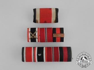 A Grouping of Three Second War German Medal Ribbon Bars