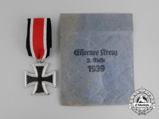 A Mint Iron Cross 1939 2nd Class in its Packet of Issue by Louis Gottlieb & Söhne