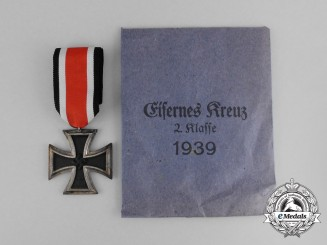 A Mint Iron Cross 1939 Second Class by Julius Maurer with Packet by Deschler & Sohn