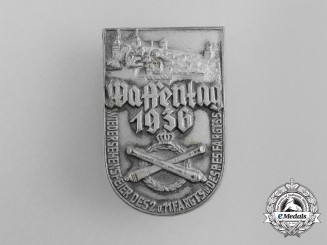 """A 1936 """"Day of Weapons"""" - First War Veteran's Remembrance Day Badge"""