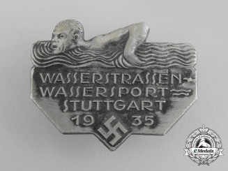Germany. A Stuttgart Day of Water Sport Badge by Fritz Zimmermann, c.1935
