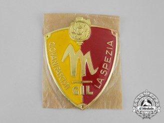 An Italian GIL  Fascist Youth La Spezia Sleeve Badge