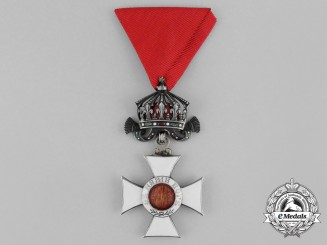 A Bulgarian Order of St. Alexander; 4th Class Officer, Type II with Imperial Crown