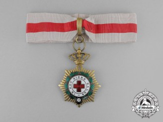 An Order of the Spanish Red Cross; 1st Class Neck Badge