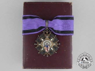 A Spanish Civil Order of Beneficencia; 2nd Class Commander Badge